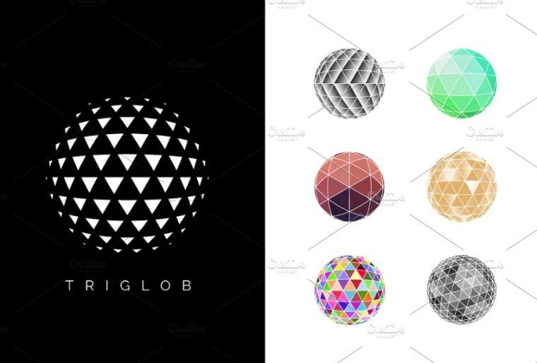 Polygon Style World Logo