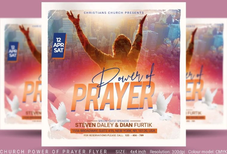 Power of Prayer Flyer Design