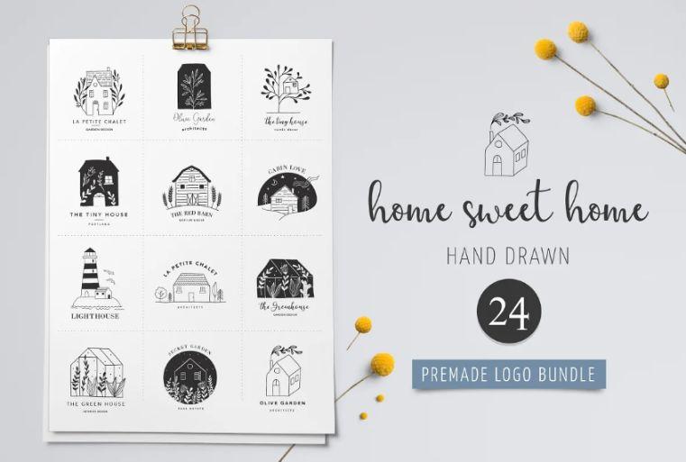 Pre Made Home Logo Set