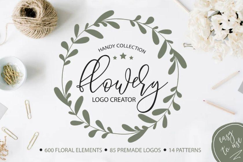 Premade Flower Logotype