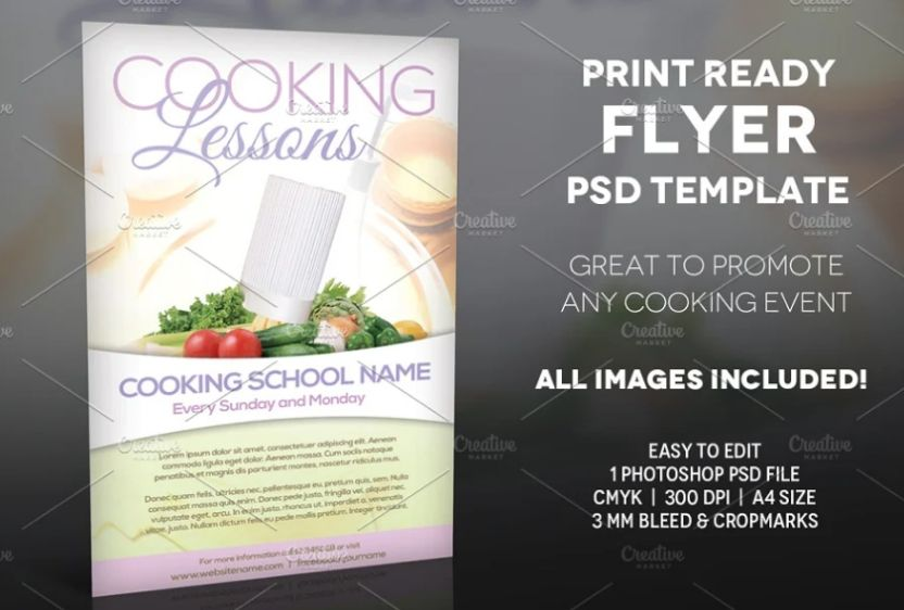 Print Ready Cook Ad Flyer