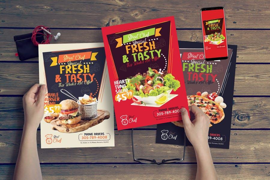 Print Ready Fast Food Flyers