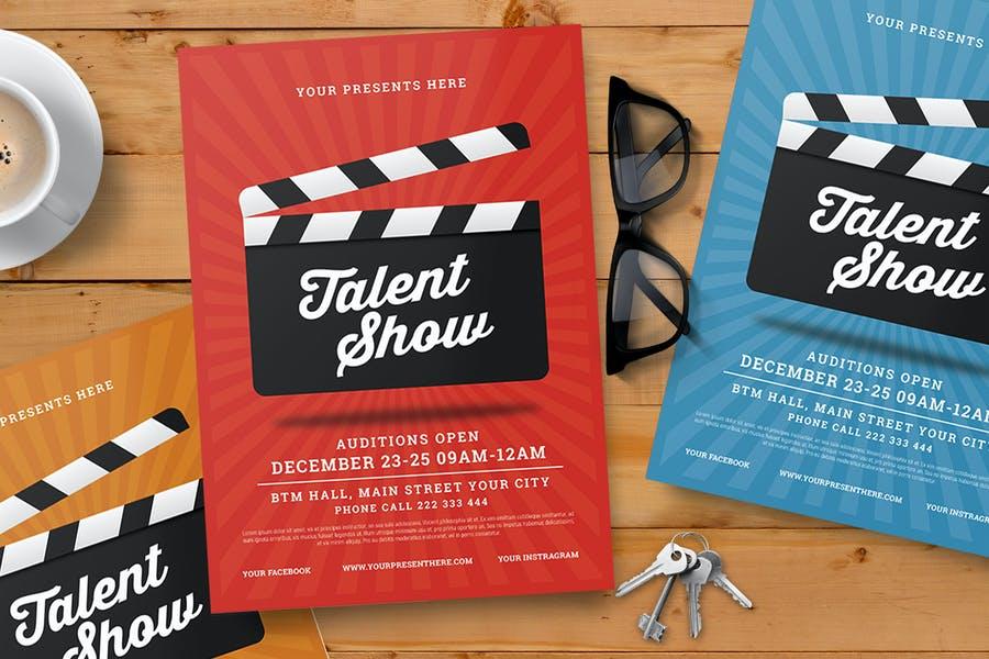 Print Ready Talent Show Flyer