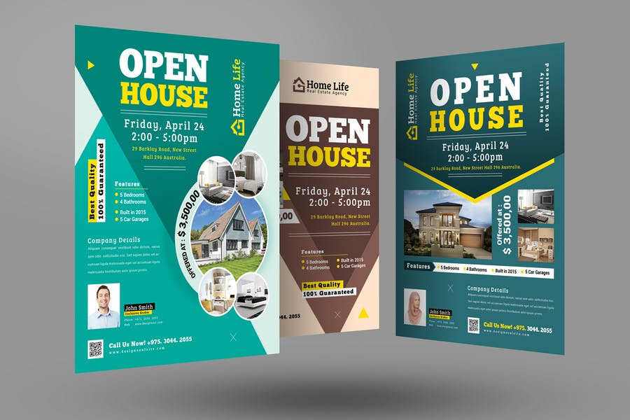 Printabe Open House Flyers Design