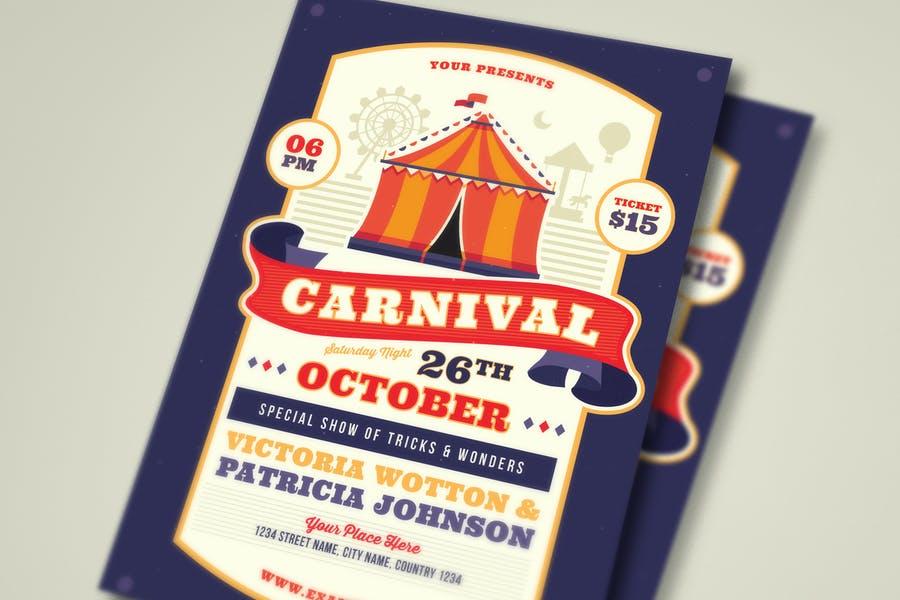 Printable Carnival flyer Template