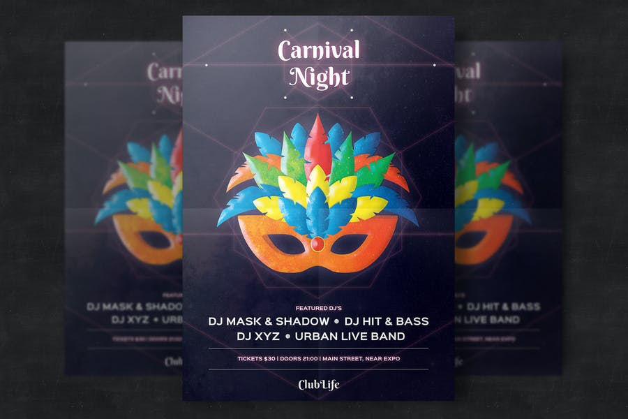 Professional Carnival Poster Template