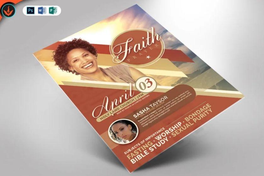 Professional Faith and Church Flyer