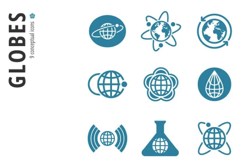 Professional Globes Icon Set