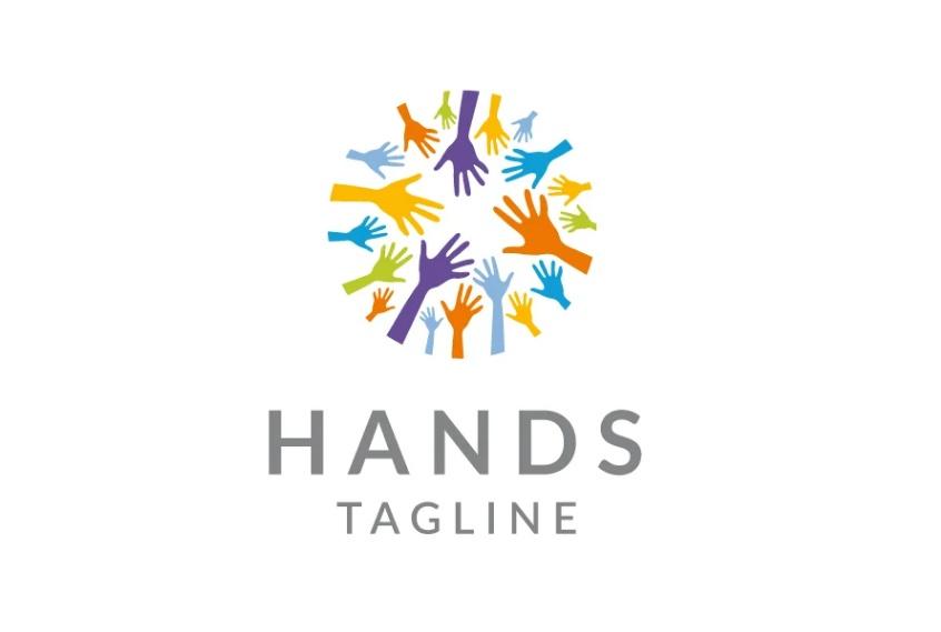 Professional Hands Logo Identity Design
