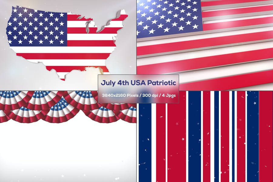 Professional July 4th Backgrounds
