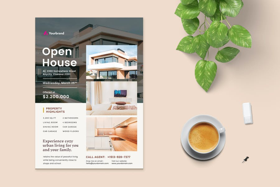 Professional Open House Ad Flyer