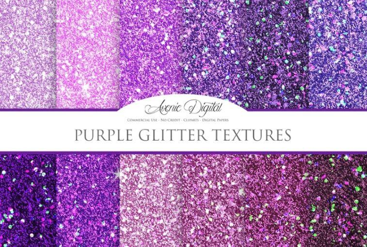 Purple Glitter Textures Design