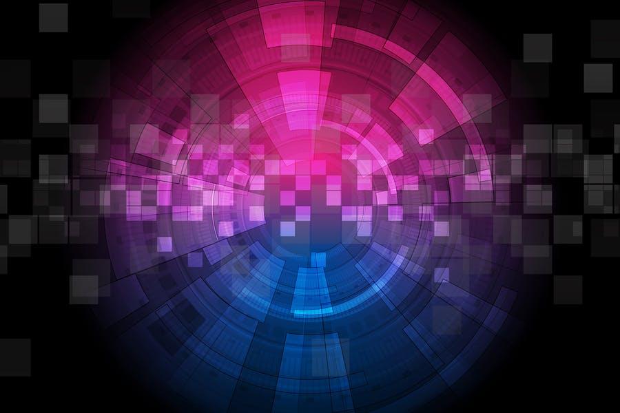 Purple Neon Style Background
