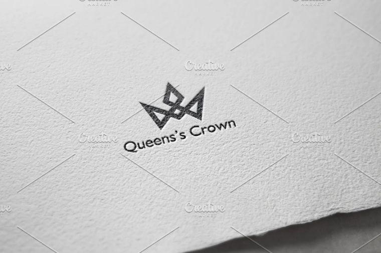 Queens Crown Logo Identity
