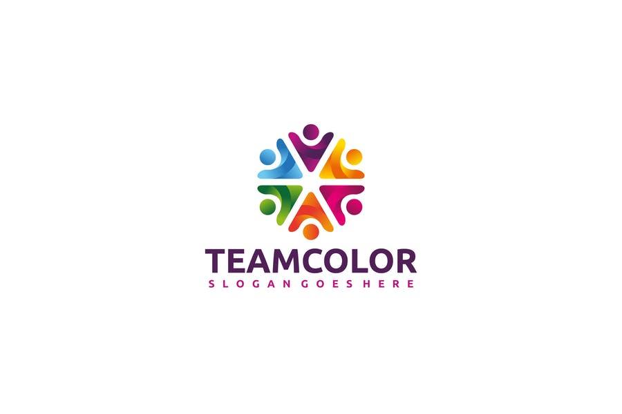Rainbow Color Themed Team Logo