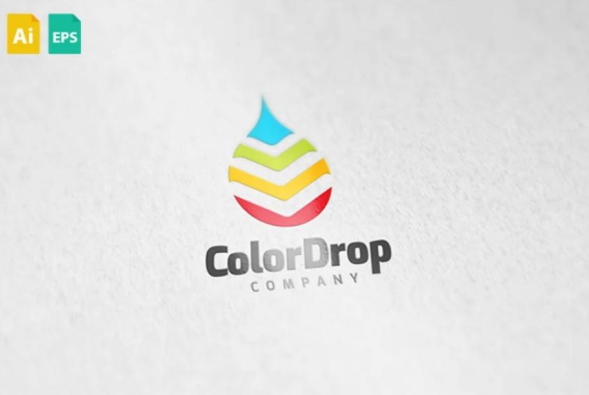 Rainbow Drop Logotype