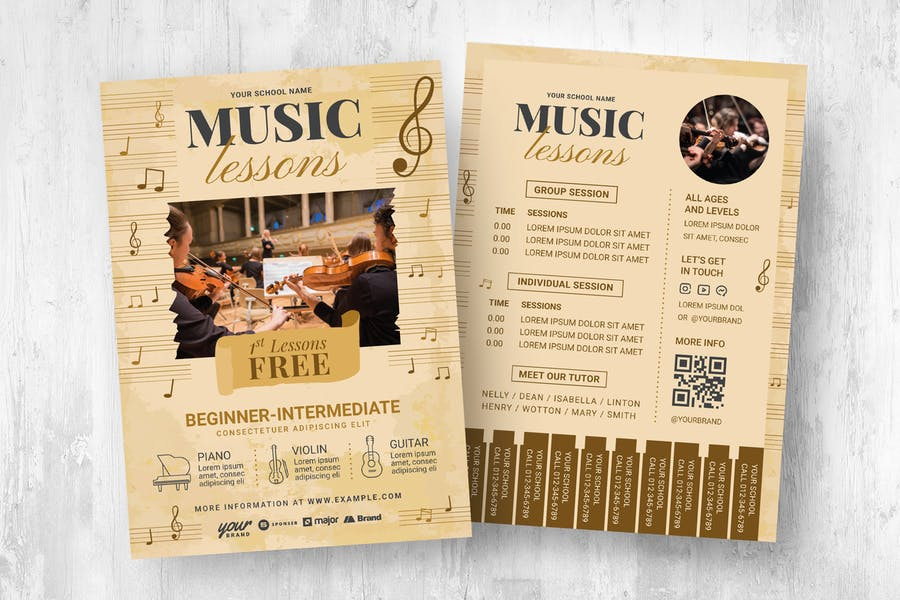 Readymade Music Promotional Flyers