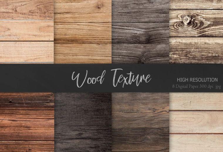 Realistic Wood Background Design