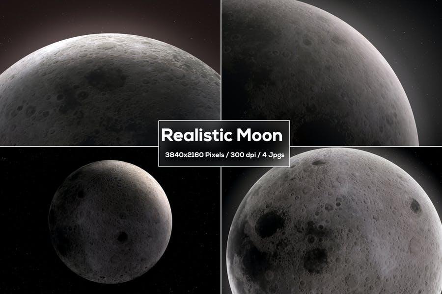 Realistiv Moon Backgrounds