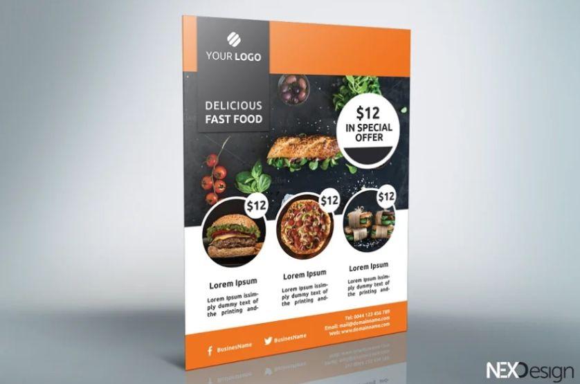 Restaurant Promotional Fyer Design