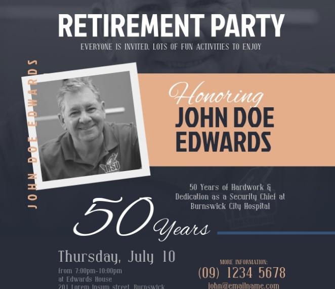 Retirement Flyer Design
