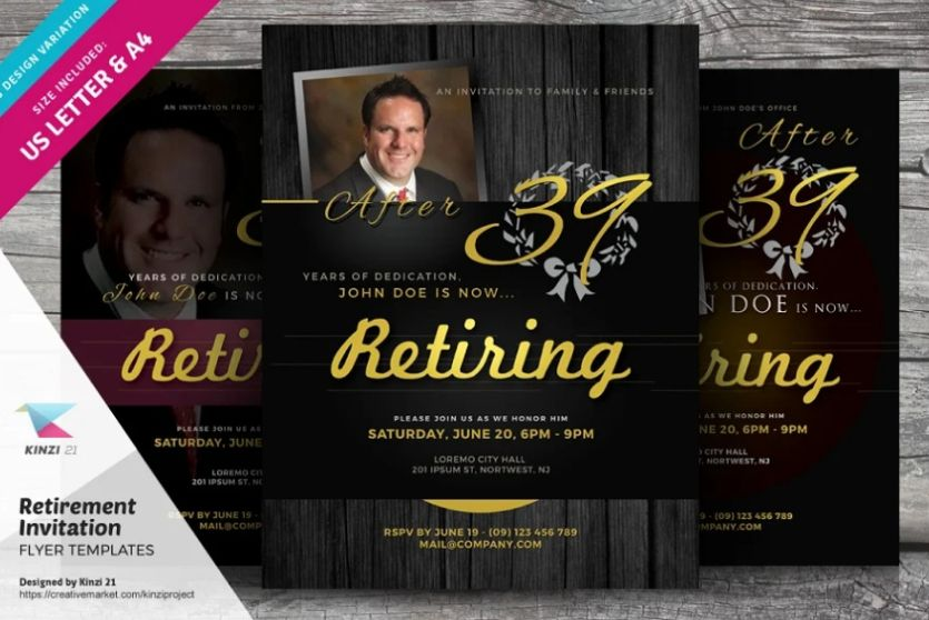 Retirement Party Invitation Flyer