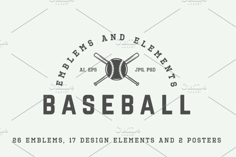 Retro Baseball Logo Design templates