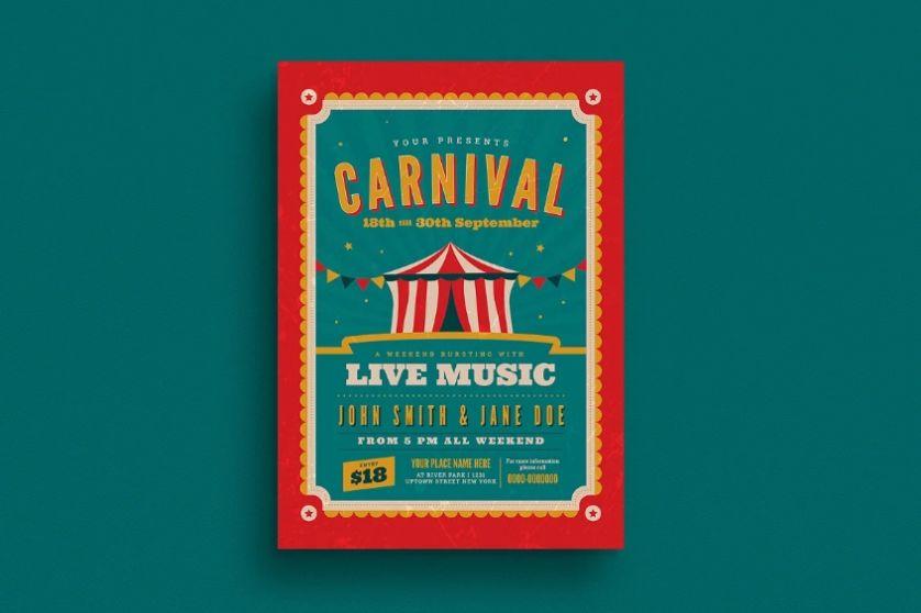 Retro Carnival Flyer Templates