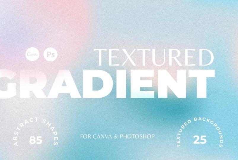 Retro Gradient Textured Background