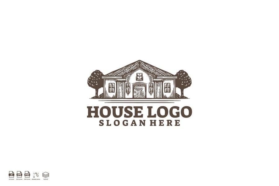 Retro House Identity Design