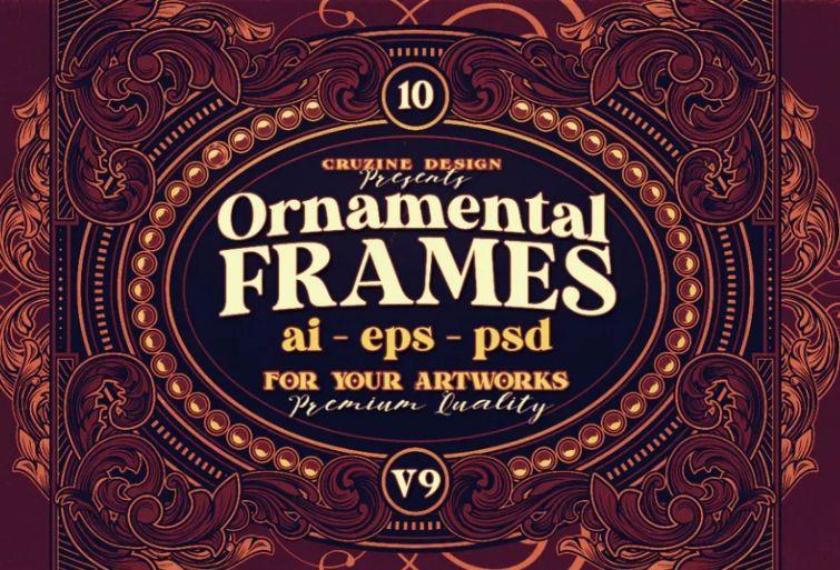 Retro Ornamental Frames Design