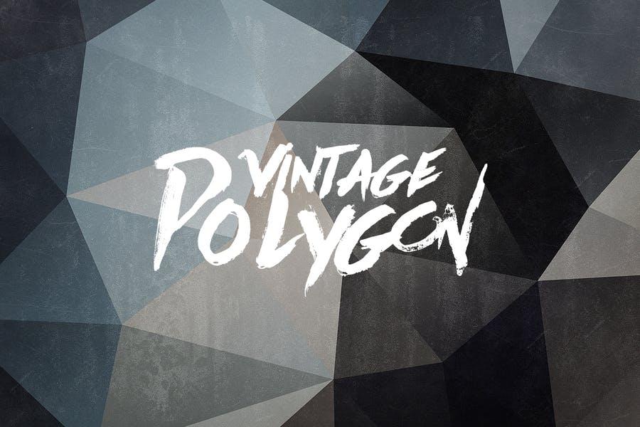 Retro Polygon Background Design