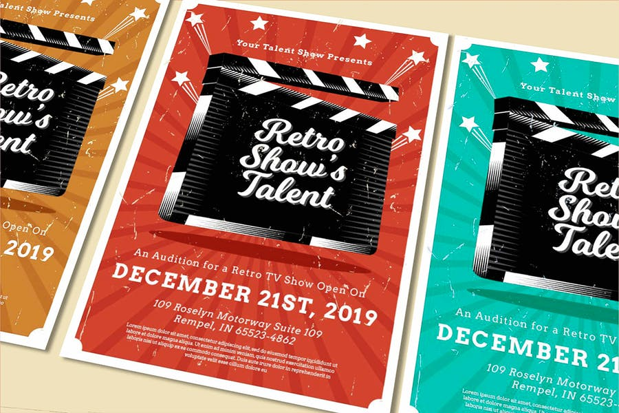 Retro Talent Show Poster