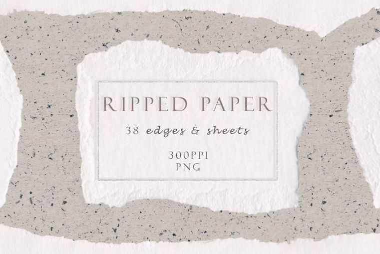 Ripped Watercolor Paper Textures