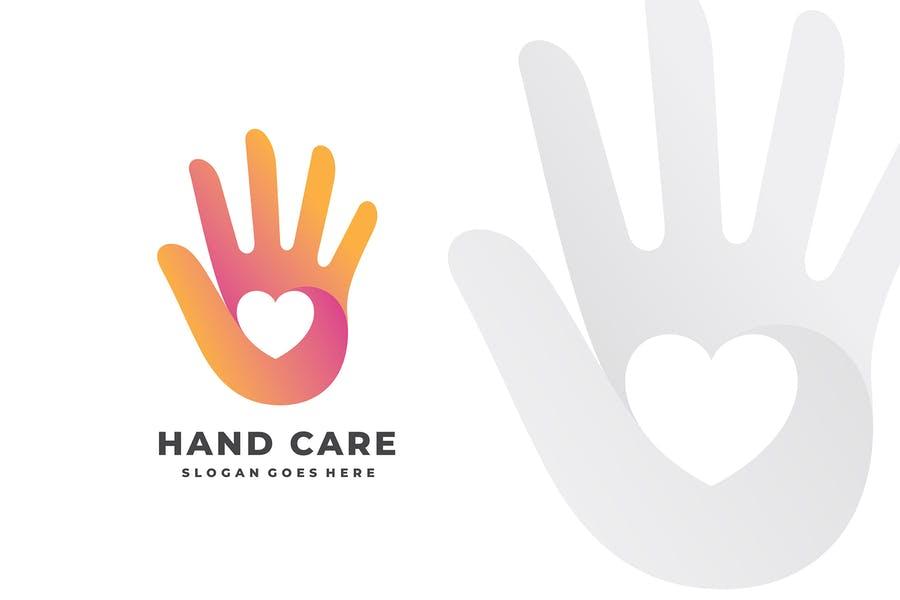 Romantic Hand Logo Design