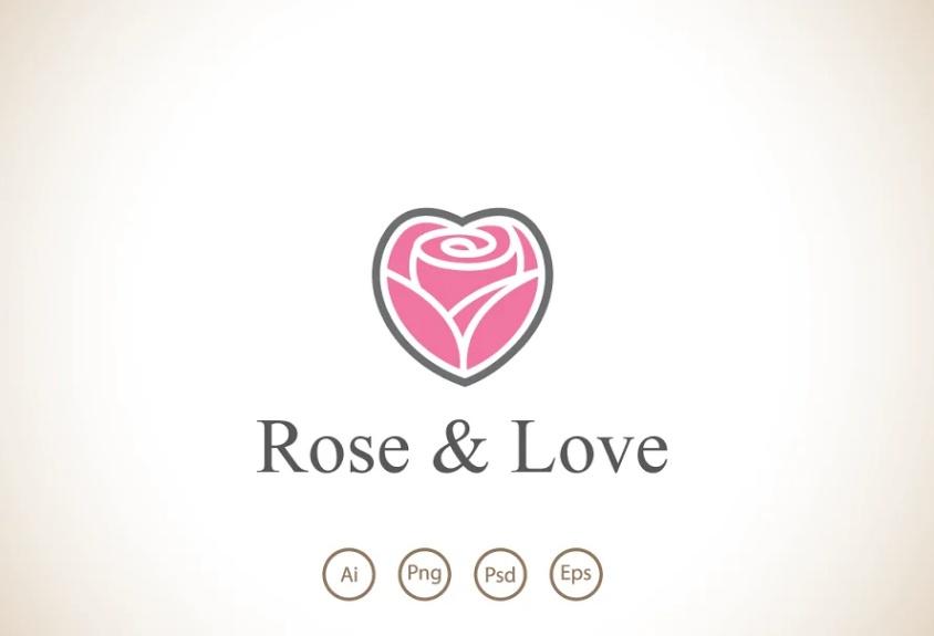 Rose Love Logo Design