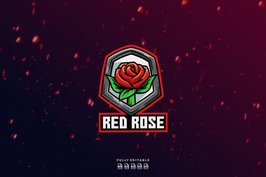 Rose Shield Logo design