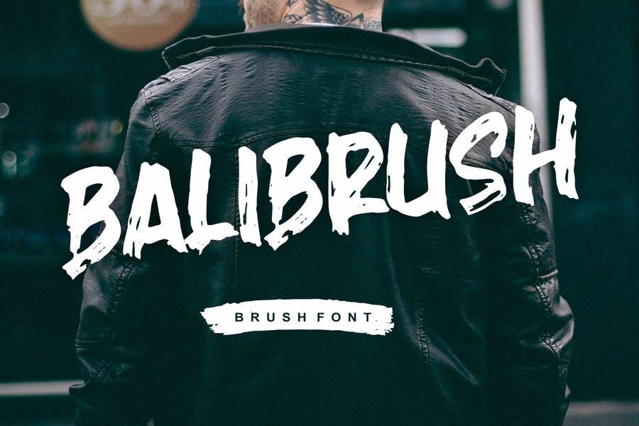 Rough Brush Style Fonts
