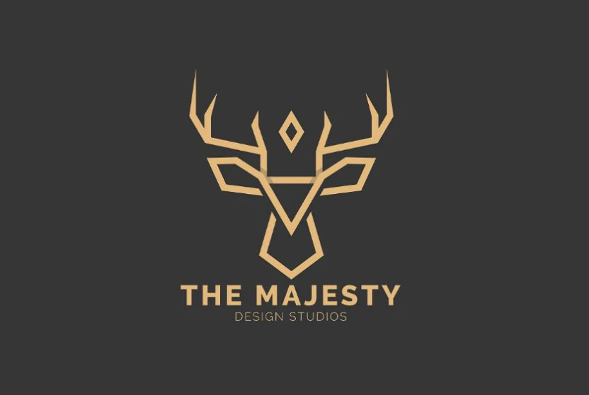 Royal Deer Logo Design Idea