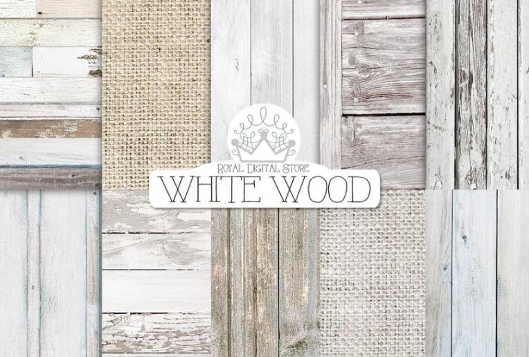 Royal Style White Wood Backgrounds