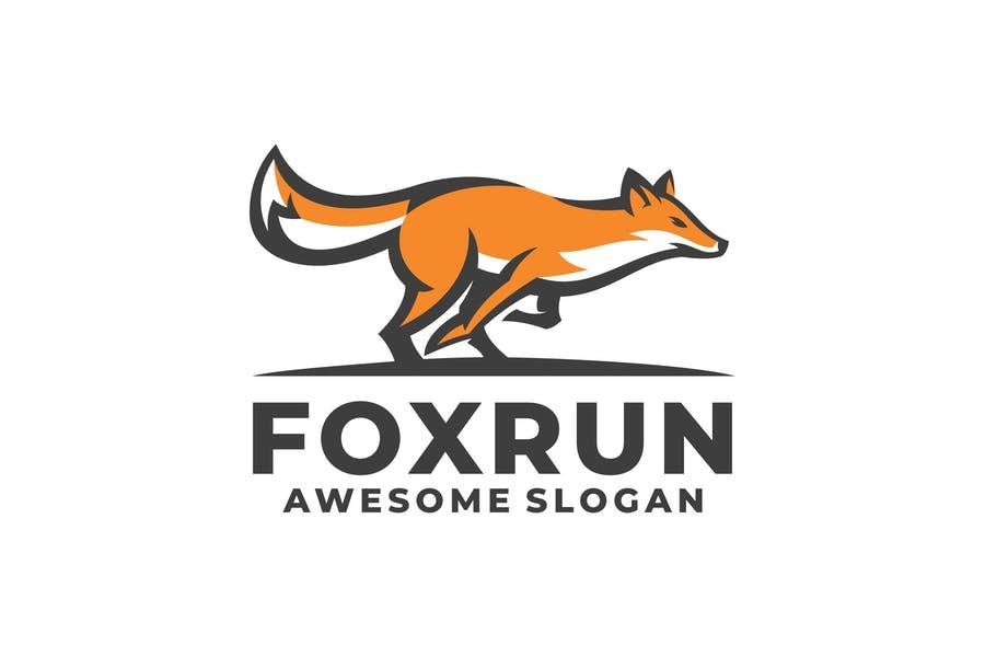 Running Fox Logo Designs
