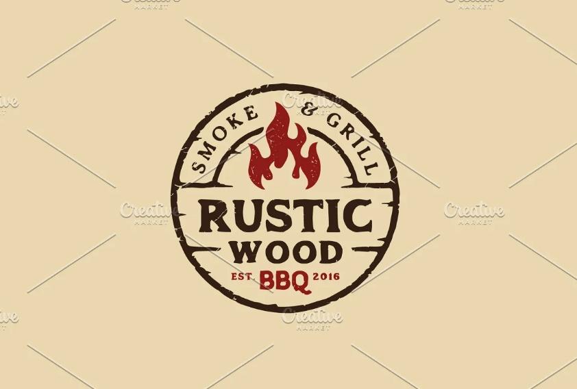 Rustic BBQ Logo Design