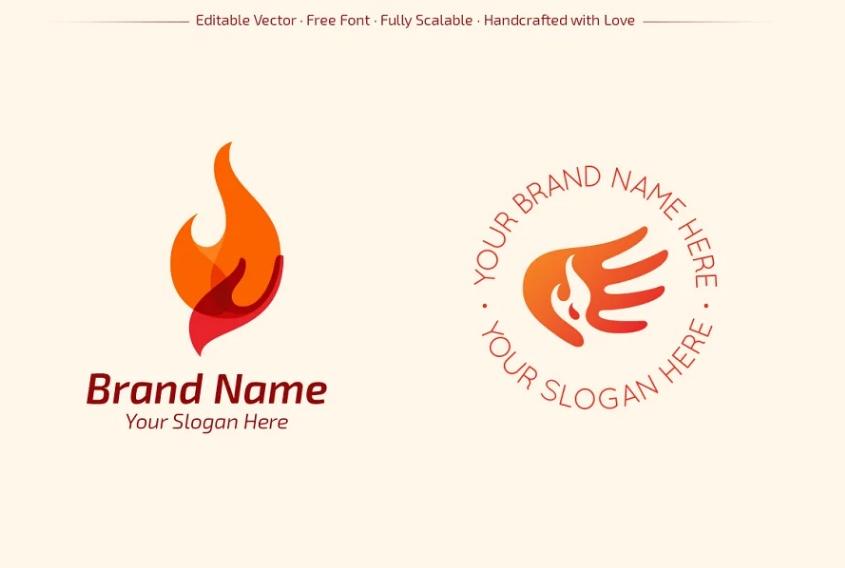 Safety Hand Logo Designs