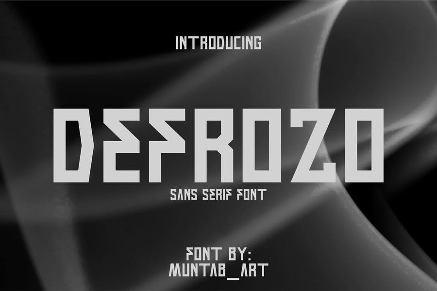 San Serif Block Typeface