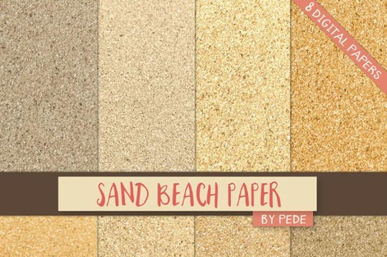 Sand Beach Digital Paper