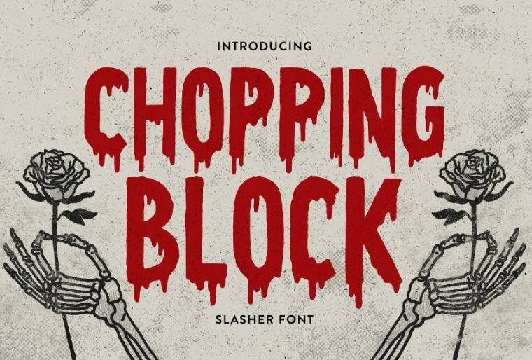 Scary Block Typeface