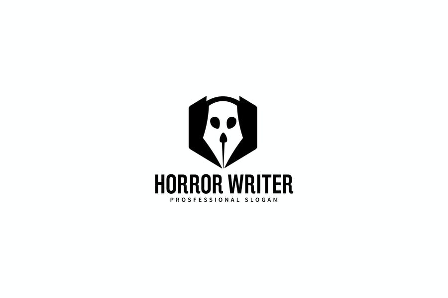 Scary Writer Logo Template