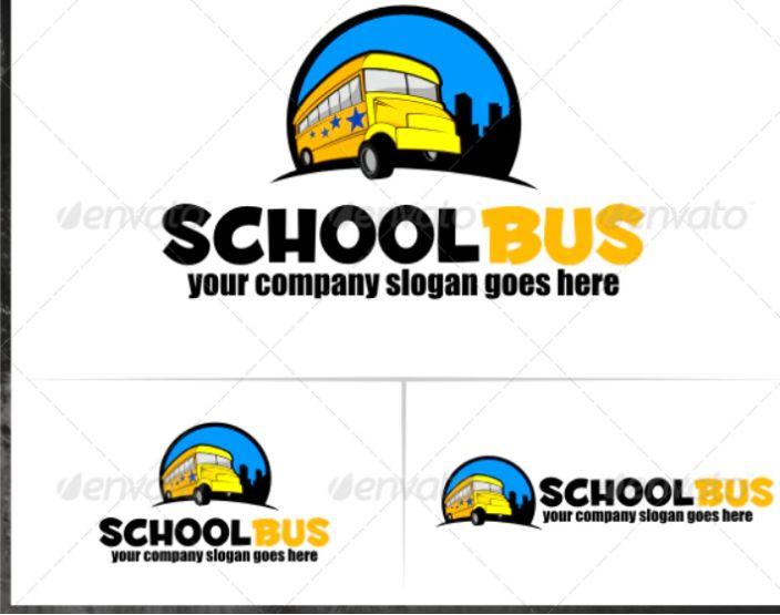 School Bus Logo Design