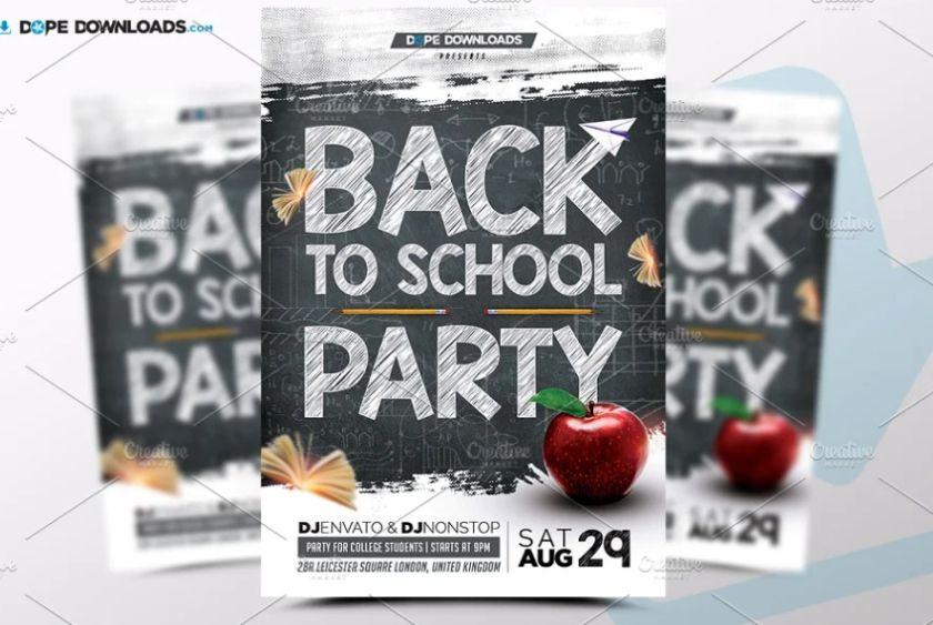 School Event Flyer Template PSD