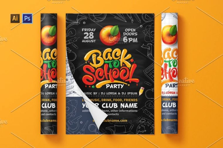 School Invitation Flyer Templates